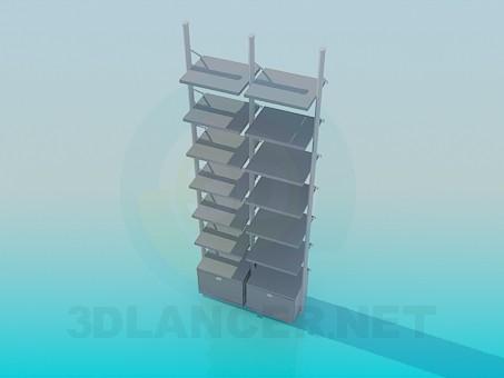 3d модель Этажерка для книг – превью