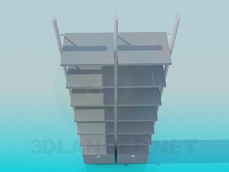 modelo 3D Estantes para libros - escuchar