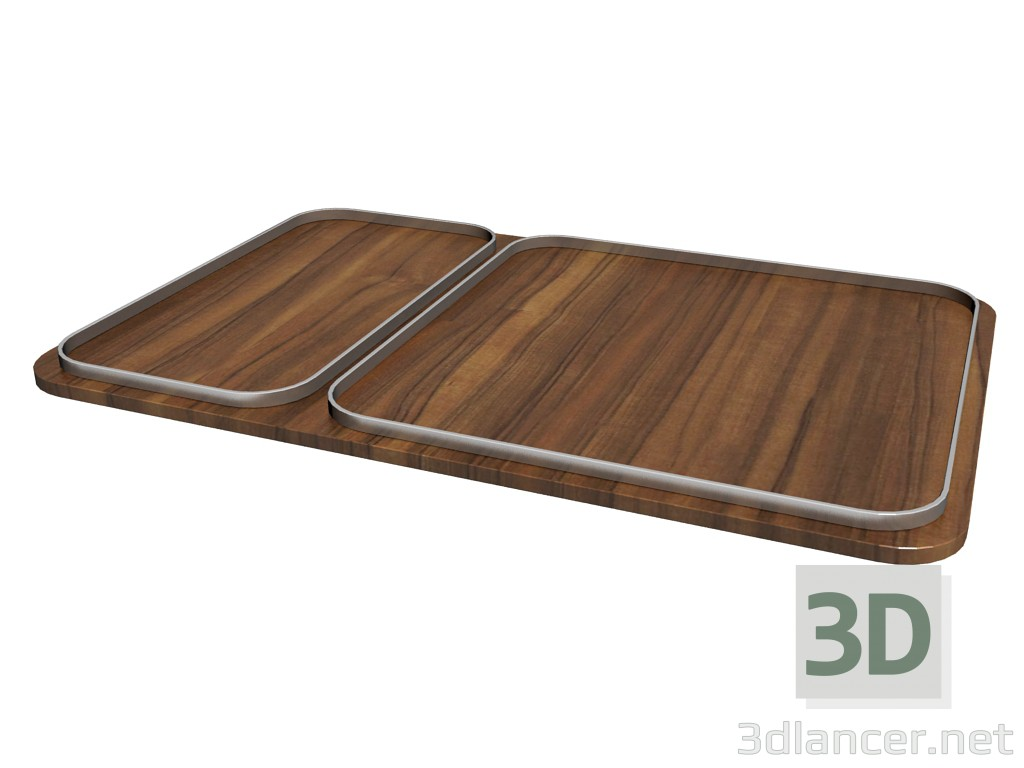 3d model 951 tray (rectangular) - preview
