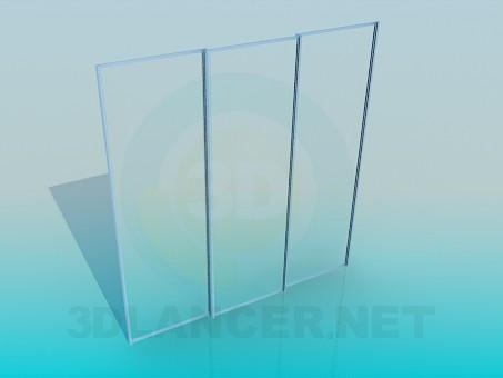 modelo 3D El sistema de corredero de armario corredera - escuchar