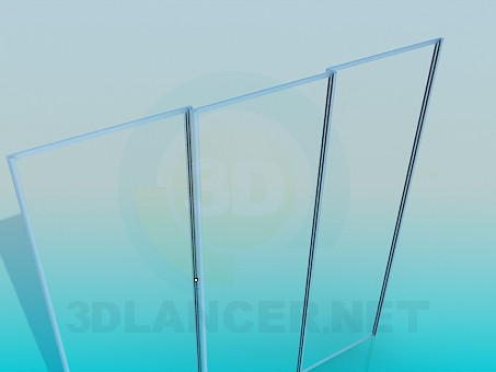 3d model The sliding system of sliding wardrobe - preview