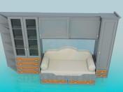Un conjunto de muebles en el dormitorio