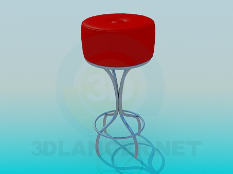 3d model Bar stool - preview