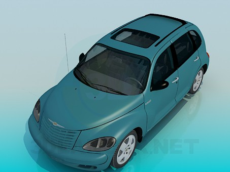 3d modeling Chrysler PT Cruiser model free download