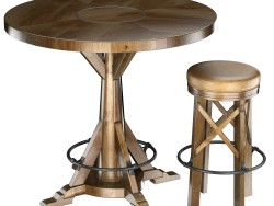 HUNTINGDON COLLECTION table and bar stool