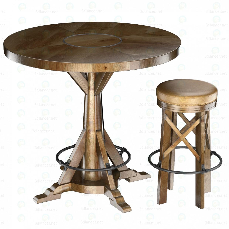 Колекція HUNTINGDON стіл і барний стілець 3d модель купити - рендер