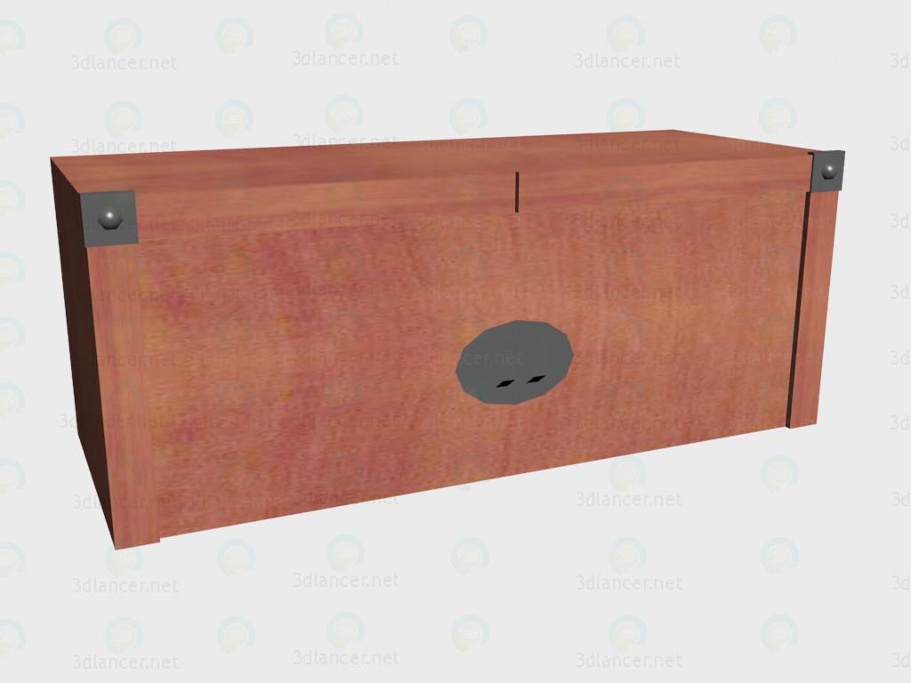 3d модель Надставка на стеллаж широкий – превью