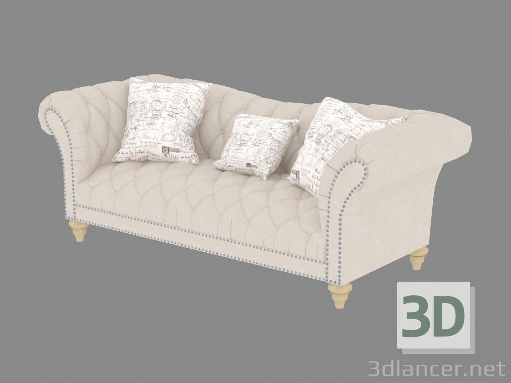 3d model sofa bed double hutton u3164 09 manufacturer for Sofa bed 3d model