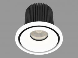 Встраиваемый светодиодный светильник (DL18616_01WW-R White)