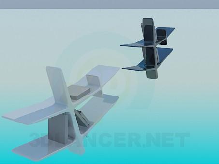 modelo 3D Estanterías - escuchar