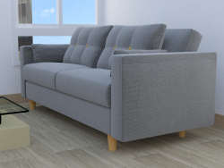 gray fabric armchair