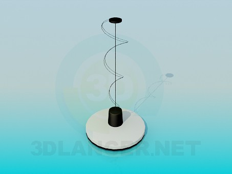 3d model Round flat luminaire - preview