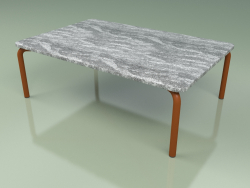 Coffee table 006 (Metal Rust, Cardoso Stone)