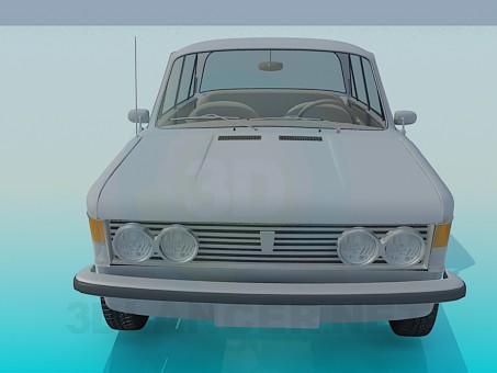 3d моделирование Fiat 125 p модель скачать бесплатно