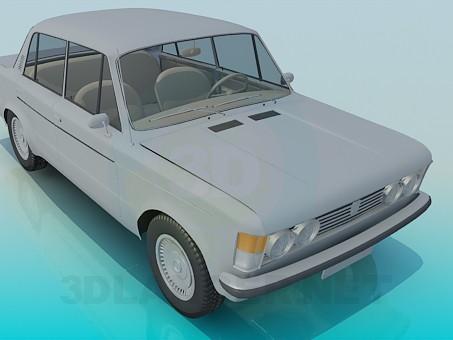 modelo 3D Fiat 125 p - escuchar