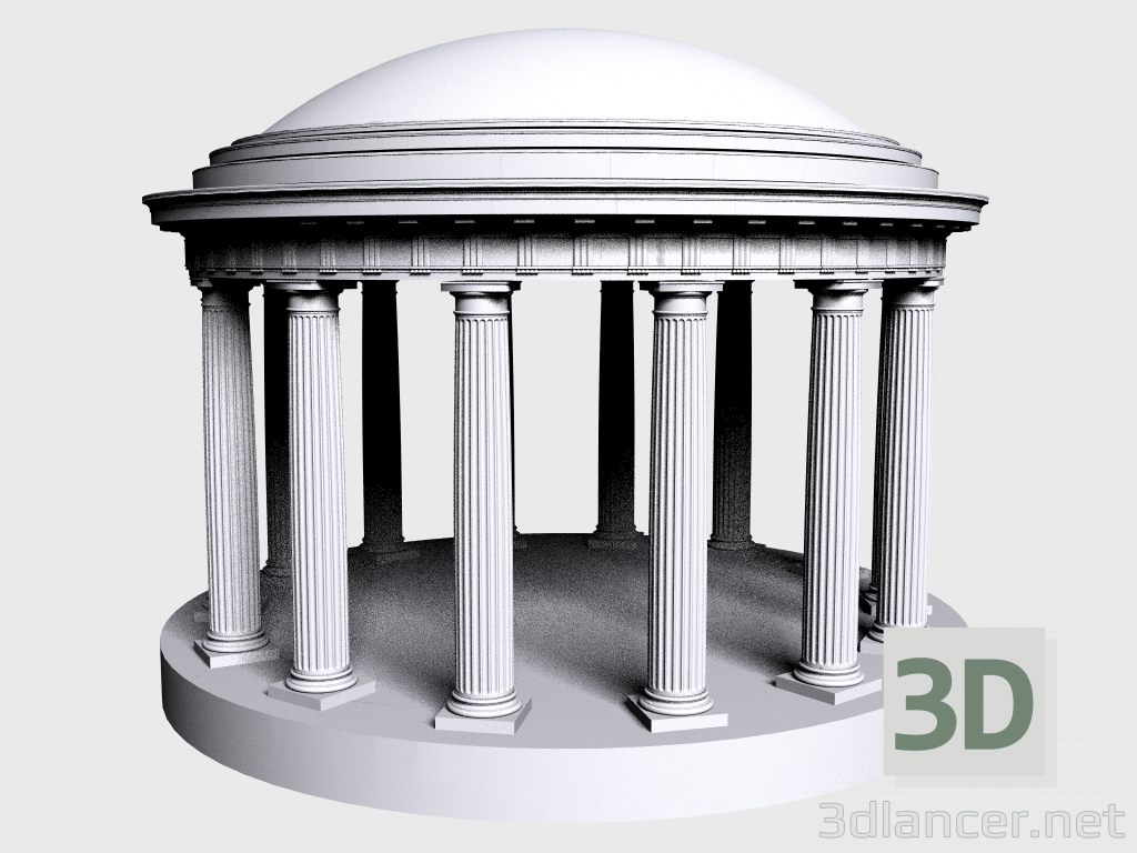 3 डी मॉडल रोटुंडा (LR594R) - पूर्वावलोकन