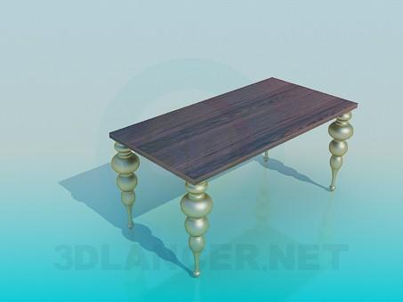 3d модель Столик с фигурными ножками – превью