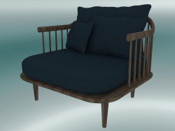 Armchair Fly (SC1, H 70cm, D 80cm, L 87cm, Smoked oiled oak, Harald 2 182)