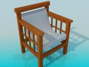 Wooden chair with a textile seat