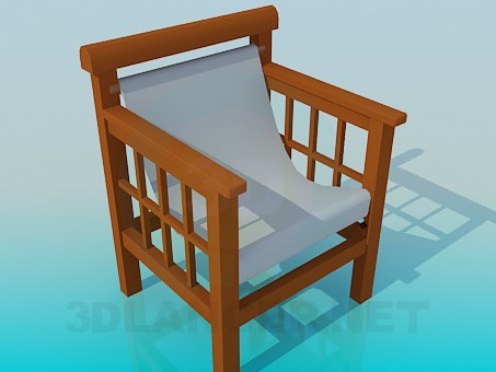 3d modeling Wooden chair with a textile seat model free download