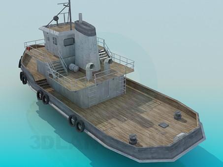 3d моделирование Буксирное судно модель скачать бесплатно