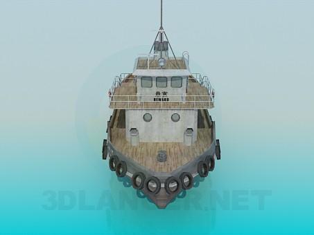 modelo 3D Remolcador - escuchar