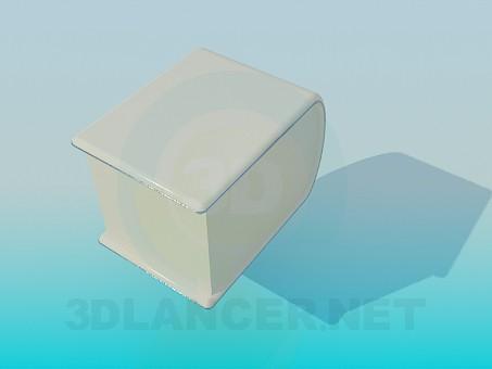 3d модель Прикроватная тумбочка – превью