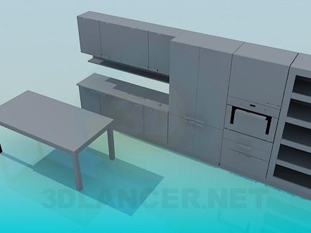 3d модель Меблі для кухні – превью