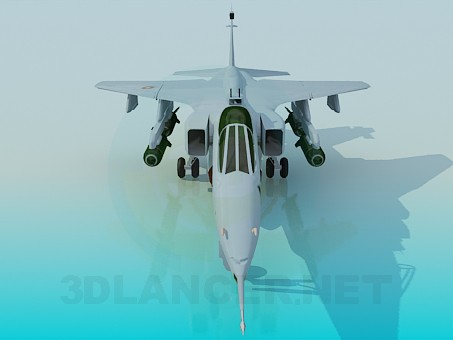 3d model Jaguar Fighter - preview