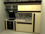 रसोई घर एक लाइन में