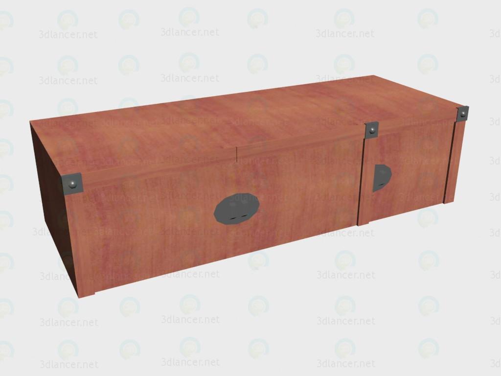 3d model La extensión en el armario de 3 puertas - vista previa