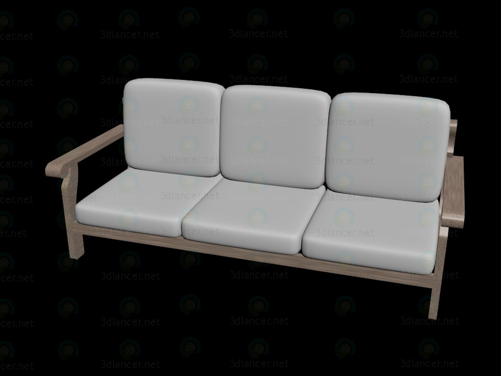 3d model Simple corner couch 1 - preview