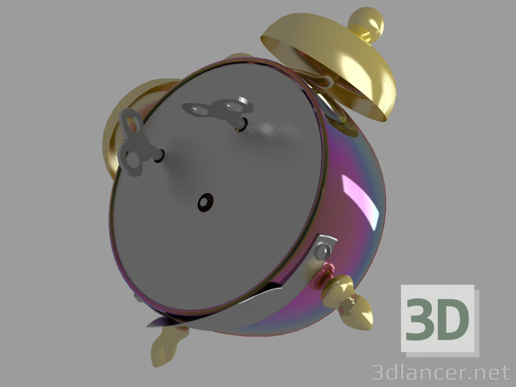 3d model MIKI Clock - preview