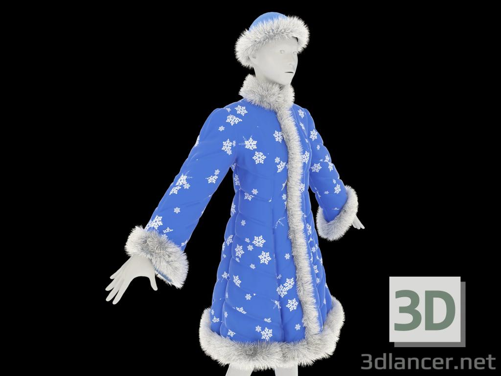 3d Fur coat for the Snow Maiden model buy - render