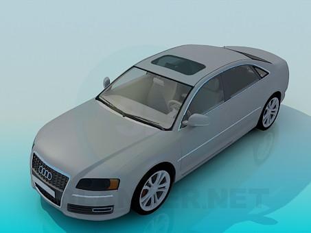 modelo 3D Audi A8 - escuchar