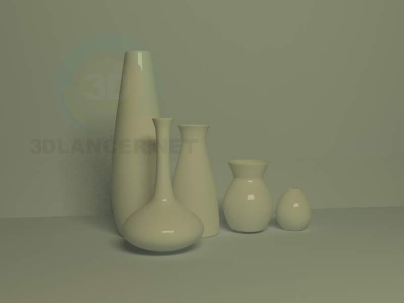 3d модель Керамічні вази – превью