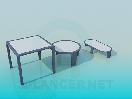3d model Set of the tables - preview