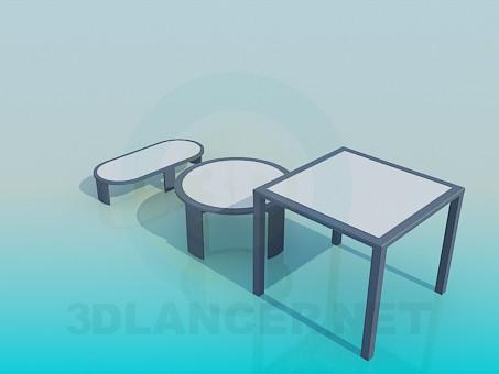 3d модель Набір столів – превью