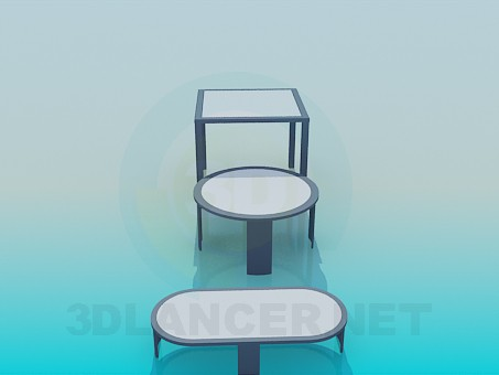 3d модель Набор столов – превью