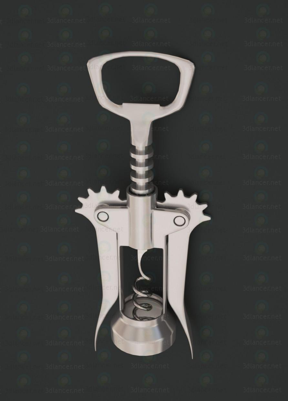Sacacorchos de espoleta doble 3D modelo Compro - render