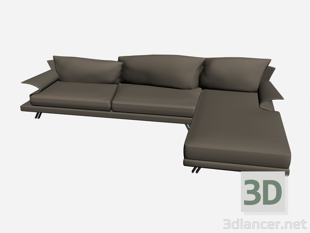 3d model sofa super roy angolare 4 il loft collection - Super sofa ...