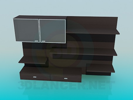 modelo 3D Gabinete - escuchar