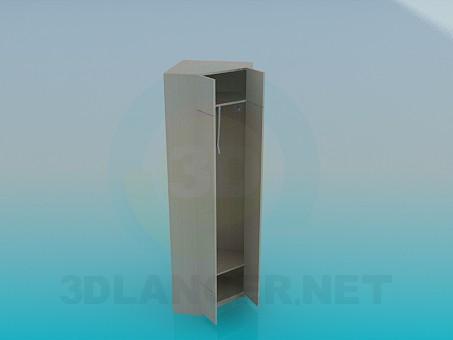 3d модель Угловой шкаф в прихожую – превью