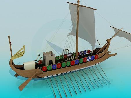 3d модель Корабель вікінгів – превью