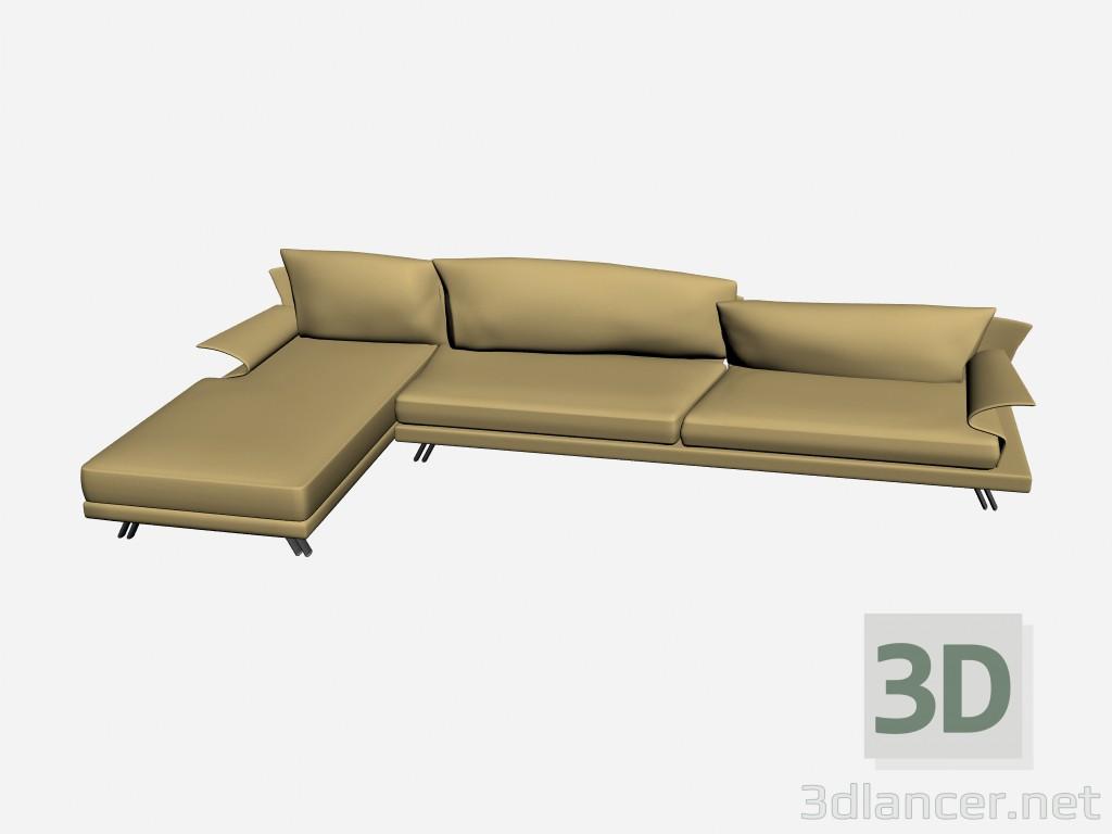 3d model sofa super roy angolare 5 il loft collection - Super sofa ...