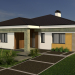 3d One-storey house model buy - render