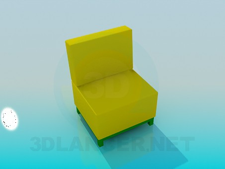 3d model Chair without armrests - preview