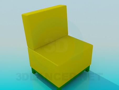 modelo 3D Silla sin brazos - escuchar