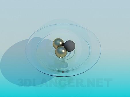 3d модель Стеклянная ваза для фруктов – превью
