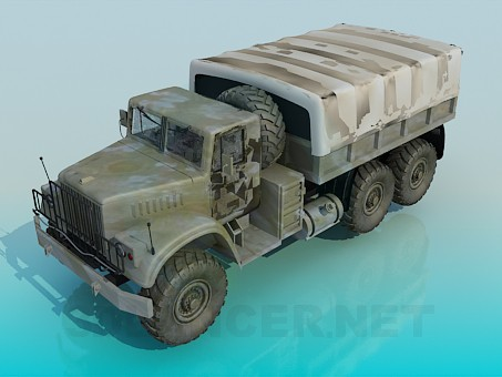 3d модель КРАЗ – превью